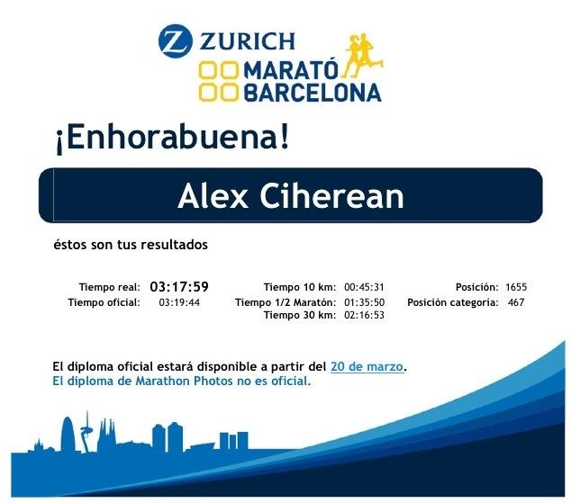 Maratón de Barcelona 2014  Mejor Marca Personal 38992cfaab0